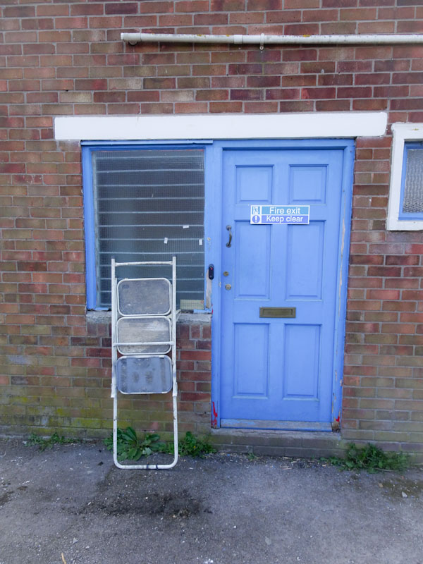 Door and steps, Saint Phillips, Bristol, April 2021